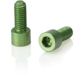 XLC BC-X02 Bottle Cage Bolts 2 Pieces, verde